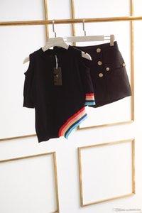 Summer New Color Stripes Irregular Knit Shirt Women Clothes Desiger T Shirts Short Sleeve T-shirt Slim Fit Pullover Tops Tee Size S-L