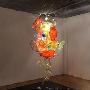 100% mão soprada macano arte placas lâmpada lâmpada candelabro cúpula de vidro interior para decoração de casa