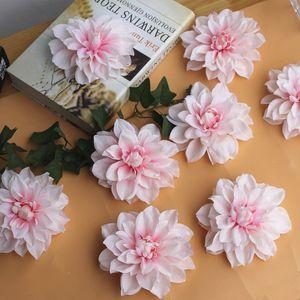 12 centimetri Peonia Flower Head Dahlia fiori finti Fai da te Matrimonio Fiore sfondo muro Artificiale fiori decorativi