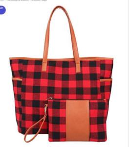 New Print leopardo patchwork borsa con cerniera wristlet borsa di girasole manico in pelle di bufalo tote shouler plaid bag 17inch