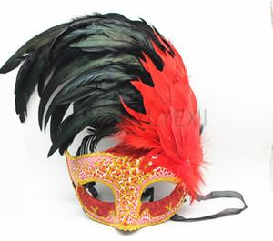 Mujeres bastante atractiva de la Navidad medias máscaras cara banquete de boda de la princesa de máscaras máscaras de plumas bola italiano Halloween