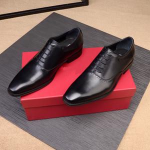 Masculino 2019 Designer de Couro Genuíno Sapatos Brogue Mens Marca de Moda Sapatos de Negócios Homens Apartamentos Casuais Sapatos Zapatillas Tamanho 38-45