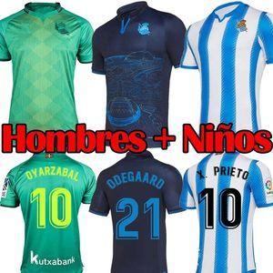2020 Real Sociedad camiseta de fútbol OYARZABAL X PRIETO 2019 20 Odegaard WILLIAN ILLARRA Hombres Niños camiseta de fútbol kit tercer Camisetas de Fútbol