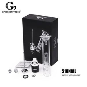 1pc Greenlightvapes G9 510 E Nail Enail Kit céramique Chauffage Rod titane Quzrtz Plat en verre Filtre à eau barboteur Dab Pipe Rig