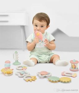 Puzzle teether hochet matériau écologique peut mordre peut être bouillie à haute température jouets pour bébés de désinfection
