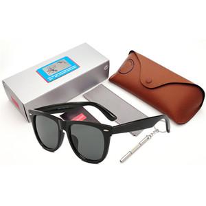 Occhiali da sole di alta qualità personalizzati Marca Hiker Modello YU21-40 Acetato lenti reale UV400 di vetro di vetro di Sun Pacchetti Custodia in pelle TAGLIA 54mm