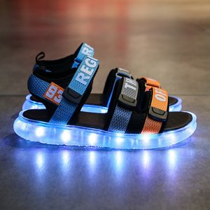 RISRICH Children for baby infant toddler boy girl sneakers kids boys girls led usb glowing light up beach sandals shoes T200703