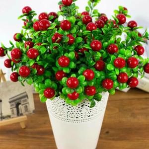 Yapay Okaliptüs Meyve Yapay Bitki Zengin Meyve Buket Suiside Kız 5 Dallar Ev Masa Dekorasyon Sahte Meyve Bitki