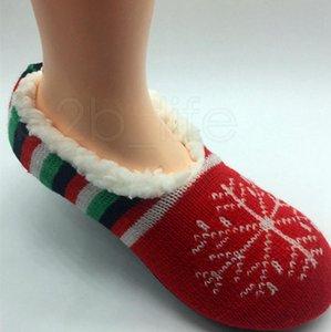 Kadın Noel Klasik Aplike Terlik Çorap Lady Slipper Çorap Ev Ev Terlik Çorap Rahat Terlik AN2962