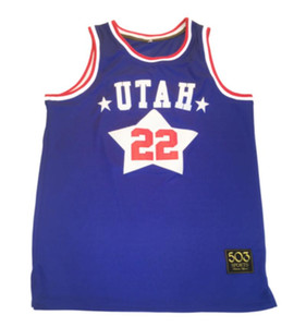 personalizzato dimensioni pallacanestro Jersey XXS XS S-XXL 3XL 4XL 5XL 6XL Utah Stars Customized Jersey di pallacanestro ABA Moses Malone Los Angeles