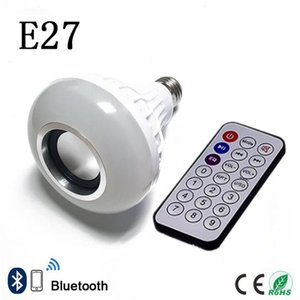 Lámpara LED inteligente E27 RGB Bombilla inalámbrica Bluetooth Lampada altavoz Lamparas RC Ampolla 85V-265V Bombillas de música ligera del Juego