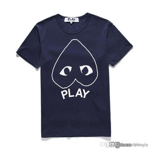 2017 Best New G 1 CDG HOLIDAY Heart Emoji PLAY TEE T-shirt marea marchio pesca t shirt in cotone nero backwinding amanti del cuore lettere