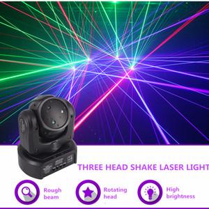 far hareket Işın DMX Ağ Lazer Işığı Profesyonel Ev Gig Parti DJ Sahne Aydınlatma Ses Otomatik DJ-3H Hareketli Mini 3 Kafa RGB Köpekbalığı