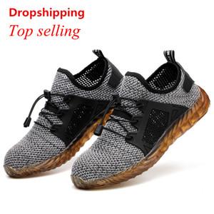 ODbL puntale in acciaio indistruttibile Ryder scarpe a punta donne degli uomini d'acciaio e per la sicurezza aerea Stivali alla perforazione a prova di lavoro Sneakers traspirante ShoesMX190907