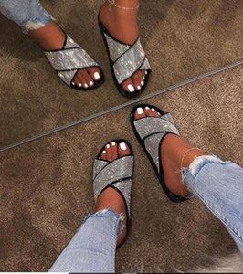 Oeak été Chaussons Sandales Cross Belt 2020 Mode Femmes Sandales plates Gelée Chaussures Chaussures antidérapante Beach Home Casual