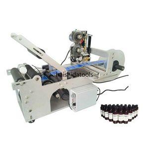 Nouvelle vente chaude Etiqueteuse Bouteille semi-automatique ronde avec ruban Machine d'impression