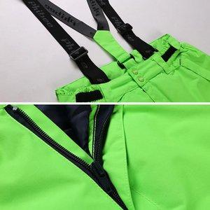 Children Boys Ski Suit -30 Degrees Ski Jacket Bib Pants Outdoor Waterproof Breathable Snowboarding Set Kids Skiing Suits