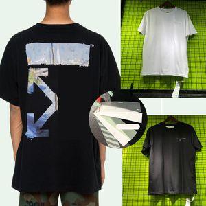 새로운 남성 여름 t 셔츠 짧은 꼭대기 좋은 품질의면 셔츠 OFF 블랙스럽고 하얀 남여 남성 여름 CLOTHINGS 크기 S-XL 긴팔