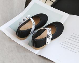 Ragazze principessa Shoes ragazze Nuovo fiocco piatto Children Shoes Casual Outdoor-scarpe 2020 nuovo stile di modo delicatamente solo Student-Shoes Hot Sell
