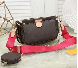 Sıcak satış yeni çanta cüzdan Kadınlar favori mini poşet 3adet aksesuarları crossbody çanta vintag omuz çantaları deri çoklu renk askıları