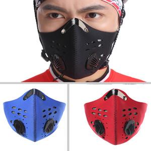 Máscaras camino de la montaña de la bicicleta de la media cara anti-polvo de ciclo respirable de la mascarilla del carbón activado Ciclismo Running Máscara de bicicletas
