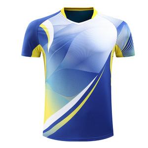 Stampa gratuita Camicia da badminton, Camicia da tennis, Camicie da tennis Quick dry, T-shirt da tavolo Magliette sportive 225