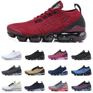 2019 Nouveau Knit Fly 3.0 Chaussures De Course Tous Les Noirs Triple Blanc Armée Vert Hommes Femmes Respirant Baskets Chaussures De Sport De Marche Taille 36-46