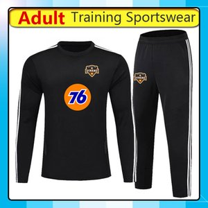 2019 sportswear 2020 Houston Dynamo calcio di formazione, 19 20 Houston Dynamo manica lunga formazione magliette da calcio tuta pantaloni set in corso