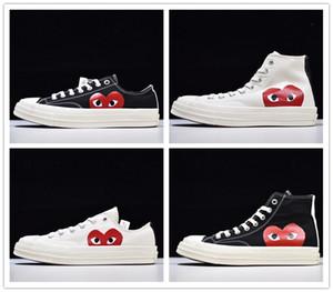 Yeni 1970'lerde erkeklerin Büyük Gözler Chuck 70 Çoklu Kalp 70'ler Merhaba Tuval Ayakkabı Klasik 1.970 Birlikte Adı Kaykay Eğitmenler kadınlar Marka Spor Sneaker oyna