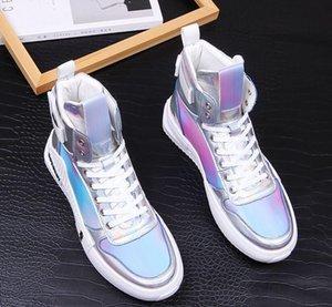 Dazzle 2020 Yeni İngiliz Erkekler Rasgele Konfor Ayakkabı renk Charm Platformu Ayakkabı Moda Gençlik Man Beyaz Eğilimleri Günlük Ayakkabılar 1108