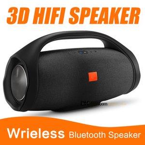 Beau son Grand Taille Boombox Bluetooth Haut-Parleur Stéré 3D HIFI Subwoofer Mains Libres En Plein Air Portable Stéréo Subwoofers Avec Boîte Au Détail