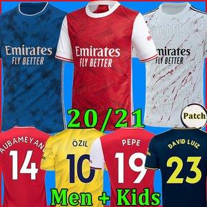 Arsenal camisa de futebol soccer jersey football shirt 20 21 PEPE AUBAMEYANG LACAZETTE 2020 2021 Camiseta Xhaka Özil kit de futebol camisa uniformes maillot de terceira