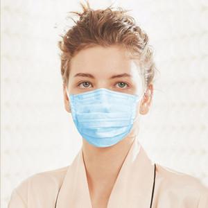 DHL libre desechable mascarilla de 3 capas a prueba de polvo para la cara Máscaras cubierta protectora anti-polvo desechables Salon Earloop Boca máscara máscaras del partido