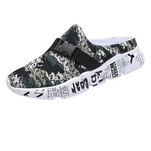 SAGACE 2020 new sandals casual men's mesh camouflage outdoor thick bottom light walking beach shoes sports sandals