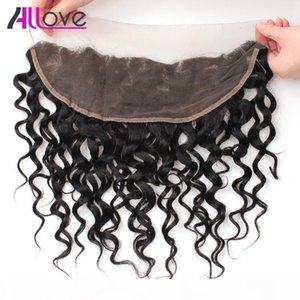 8A Allove Brazilian Virgin Hair Lace Frontal Peruvian Water Wave Ear to Ear Closure Wet & Wavy Malaysian Frontal Closure Indian Human Hair