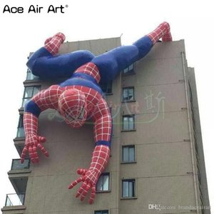 Kletter Cartoon Modell aufblasbare spiderman, tragbare Gebäude Ereignis Dekospinne Mann mit hängenden für Werbung