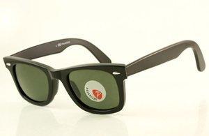 Yüksek Yeşil Lüks Lens Güneş Gözlüğü Moda Tasarımcısı 50mm 2140 Gözlük Erkek / Bayan Siyah Gözlük Kaliteli Marka Polarize Vufgn