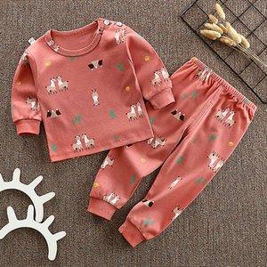 Autumn Baby Sleepwear Pajamas Blouse Tops+Pants Girls Boys Clothes 0-4T Toddler Kids Cartoon Print Outfits Set Long Sleeve