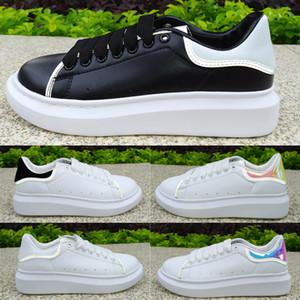2020 Womens Beyaz Siyah Yansıtıcı 3M moda top elbise rahat ayakkabılar Deri Altın ayakkabı kuyruk Platformu Lüks Ayakkabı tasarımcısı spor ayakkabısı