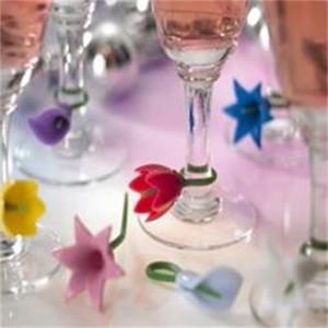 Weinglas Identifier Silica Gel Verband Diskriminator Blumenmuster Kreative Neue Stil Label Recognizer Fabrik Direktverkauf 8cx p1