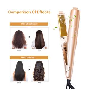JOYLOVE Chapinha Crystal Gold 2 In 1 Titanium Flat Iron Twist Irons Styling Curls Hair Care Tool Daily Necessities