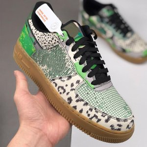 2020 Men Running Shoes 1 1s Low Premium Red Bark Snake Brown Lizard Texture Outdoor Casual Shoes Sport Sneakers Mens Womens Trainers Sneaker