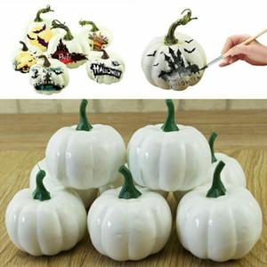 Lo nuevo Verduras Decoración 6PC artificial calabaza espuma Fiesta de Halloween Fiesta Adorno de jardín Artesanía artificial caliente Foods