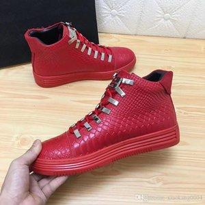 SS18 Nouvelle Arrivée Sneaker-plateforme Chaussures Hommes SS1798 Top Stars en cuir de couche de luxe de chaussures Rivet Casual Hommes EUR38-45 hn01