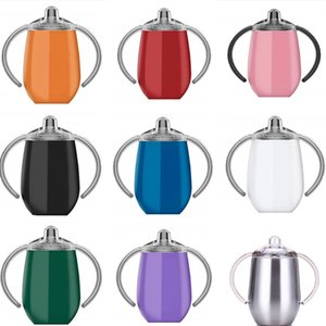 Baby Sippy Pacifier Cup Egg Shaped Stainless Steel 12oz nursing Bottle Coffee Mug Portable Insulated Tumbler Kids Cup LJJA3770-13