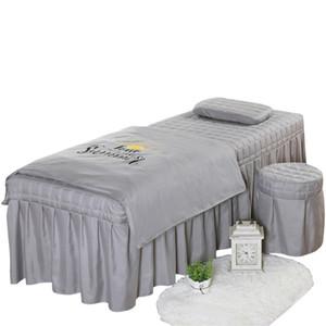Haute qualité Salon de beauté Taies épais Linge de lit Draps Couvre-lit Fumigation massage Spa Taie couette Ensembles de couverture