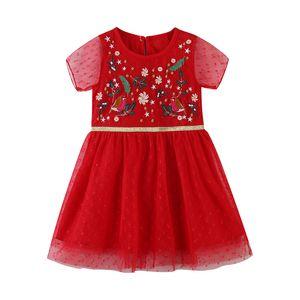 Designer embroidery Girls Dress Flower Kids Clothing Autumn Fashion Sleeveless Vest Embroidery Princess Party Dress