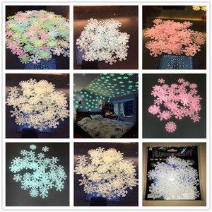 ندفة الثلج ملصقات الحائط ملصق يتوهج في الظلام نوم اطفال اطفال ديكور المنزل اللون مضيئة نيون ملصقات الحائط ملصق مائي