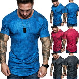 Manches courtes hommes T-shirt Séance d'entraînement Slim Fit Muscle Cut Bodybuilding Fitness Training T-Tops