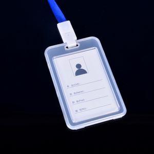 로프 이름 배지 홀더 비즈니스 스쿨 카드 홀더 도매 DBC VT0208 높은 품질 PP 수직 이름 배지 ID 카드 홀더